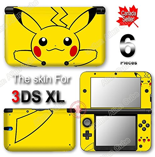 Pokemon Pikachu Classic NEW VINYL SKIN STICKER DECAL COVER PROTECTOR for Original Nintendo 3DS XL