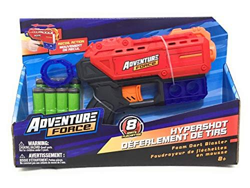 Adventure Force Hypershot Foam Dart Blaster Up to 90 Feet 8 Darts Flechettes