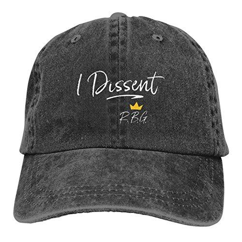 Sweet Studio Ruth Bader Ginsburg Dissent I Dissent RBG Hat Adjustable Baseball Cap Unisex Washable Cotton Trucker Cap Dad Hat Black