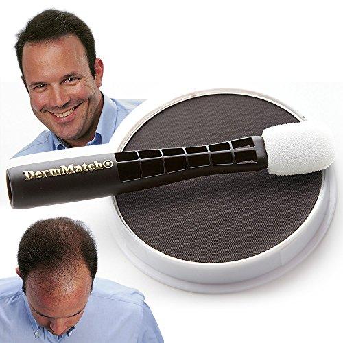 DermMatch Waterproof Hair Loss Concealer. Naturally Thicker Than Hair Fibers & Spray Concealers. (Black)