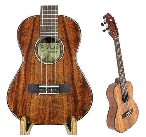 Alulu Handmade Authentic Solid Hawaiian Koa Tenor 26' Ukulele-BU Series. Classical Head, Satin or Shiny Finish Body. Including One Hard Case.