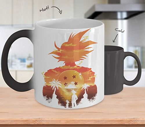 Dragon Ball Mugs, Color Changing Heat Reactive Songoku Coffee Mug, 11 OZ Ceramic, Great Gift For Dragon Ball Fans, Birthday Gift For Men & Women, Best Office Cup