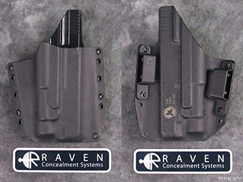 Raven Concealment Systems RCS Phantom Light Compatible Full Shield OWB Holster fits Streamlight TLR-1 (Glock 17 19 22 23 31 32, Right)