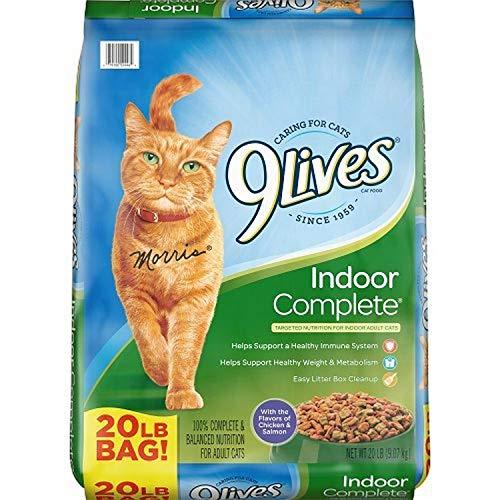 9Lives Indoor Complete Dry Cat Food, 20 Lb