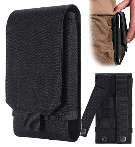 Urvoix Black Army Camo Molle Bag for Mobile Phone Belt Pouch Holster Cover Case Size L