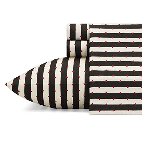 Betsey Johnson Wonderland Stripe Sheet Set, Full