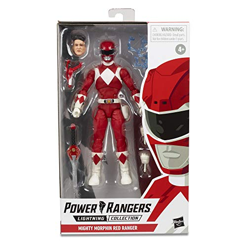 Power Rangers E7755 Lightning Collection 6' Mighty Morphin Red Ranger Collectible Action Figure Toy with Accessories