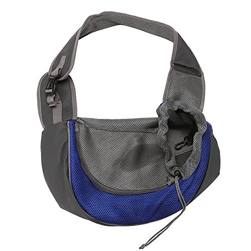 Lekgymr Pet Dog Sling One Shoulder Bag, Hands Free Breathable Mesh Outdoor Travel Safe Sling Carrier Backpacks for Small Pets, Puppy Dog, Cats
