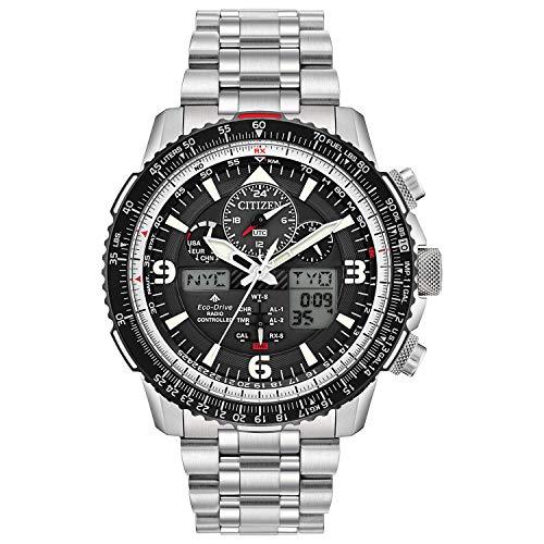 Citizen Eco-Drive Promaster Skyhawk A-T Quartz Mens Watch, Stainless Steel, Pilot watch, Silver-Tone (Model: JY8070-54E)