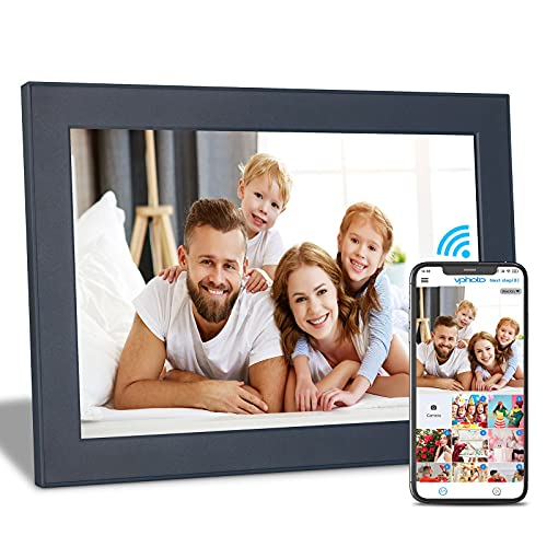 FULLJA 10 inch WIFI Digital Picture Frame Touch Screen IPS HD Display, Smart Digital Photo Frame, 16GB Storage, Auto-Rotate, Motion Sensor, Share Photos and Videos via iOS or Android App, Email, Cloud