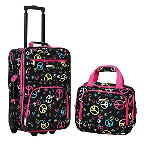 Rockland Fashion Softside Upright Luggage Set, Peace, 2-Piece (14/19)