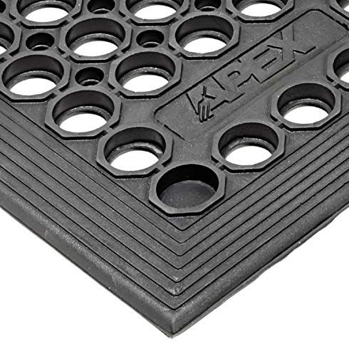 Notrax - T30S0033BL T30 Competitor Workstation Mat, for Home or Business, 3' X 3' Black