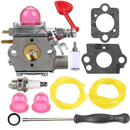 Buckbock WT-875 Carburetor with Fuel Line Filter for Craftsman Poulan Pro Blower McCulloch Blower MAC GBV325 M325 M320 MC200VS BVM200C BVM200VS P200C P325 200mph Blower 545081855