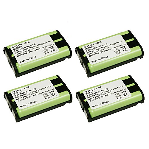 4 Pack Fenzer Replacement Cordless Phone Rechargeable Battery for Panasonic KX-TG4500 KX-TG5050 KX-TG5055 KX-TG5200 KX-TG5202 KX-TG5210 KX-TG5212 KX-TG5213 KX-TG5230 KX-TG5240 KX-TG5242 KX-TG5243
