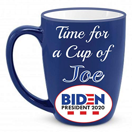 Cup of Joe Biden Magnet | Coffee Mug Shaped - Vote Democrat-ic President 2020 Election Magnet-ic For Cars + Better than Bumper Stickers or Decals ~ Anti-Trump Dump-Trump It's Joe Time (4 x 4 Inch)