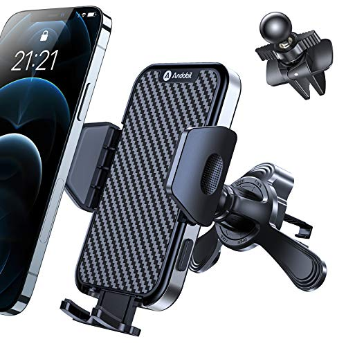 Andobil [Newest & Best]Car Vent Phone Holder Mount [Never Fall off & Fit Most Car] Hands Free Universal Air Vent Phone Holder for Car Compatible with iPhone 12/12 Pro/12 Pro Max/11 Samsung S21/S20 etc