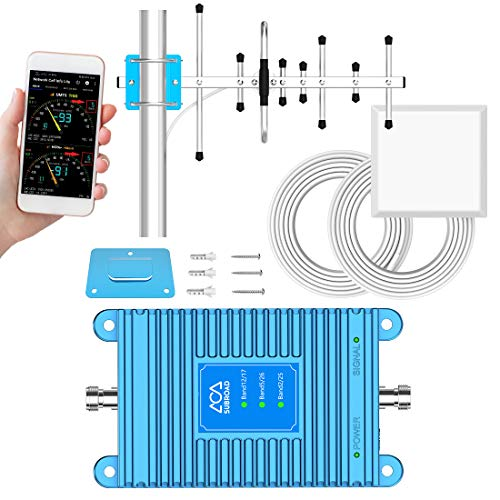 Band 17/12/5/26/2/25 Cell Phone Signal Booster, Subroad Home ATT Cell Phone Booster, 5G Support, Applicable to all U.S. carriers Verizon, AT&T, Signal Amplifier Repeater Enhance GSM CDMA 4G LTE Signal