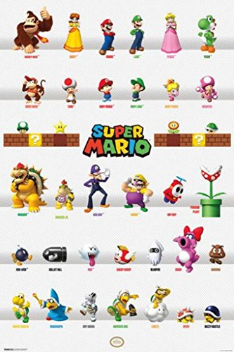 Super Mario Characters Poster 24x36 inch