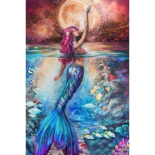 Q&K Wooden Puzzles 1000 Piece for Kids Adults Mermaid in Sea