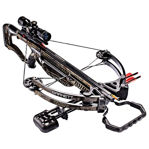 Barnett Whitetail Hunter II Crossbow   Shoots 350 FPS   Includes 4x32 Scope, Rope Cocking Device, Light Weight Quiver & Two 20 Inch Headhunter Arrows