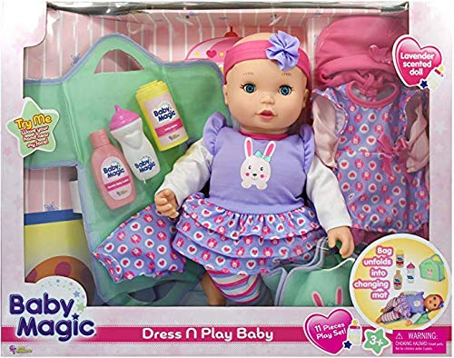 Little Darlings Baby Magic Doll Dress N Play