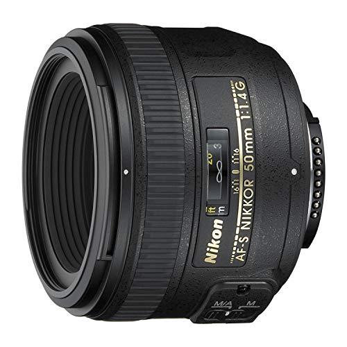 Nikon AF-S FX NIKKOR 50mm f/1.4G Lens with Auto Focus for Nikon DSLR Cameras
