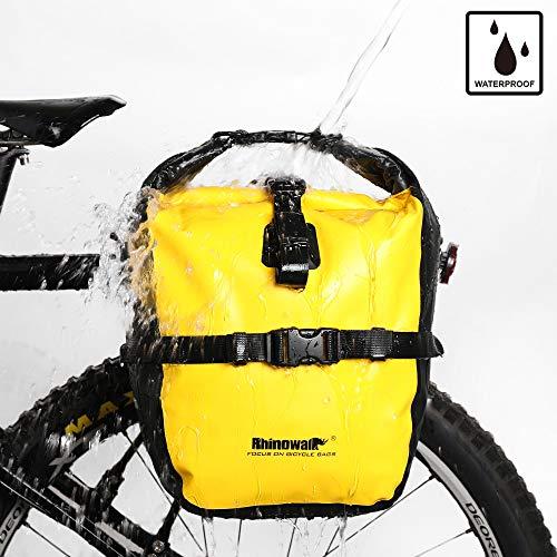 Rhinowalk Bike Bag Waterproof Bike Pannier Bag 20L,(for Bicycle Cargo Rack Saddle Bag Shoulder Bag Laptop Pannier Rack Bicycle Bag Professional Cycling Accessories)