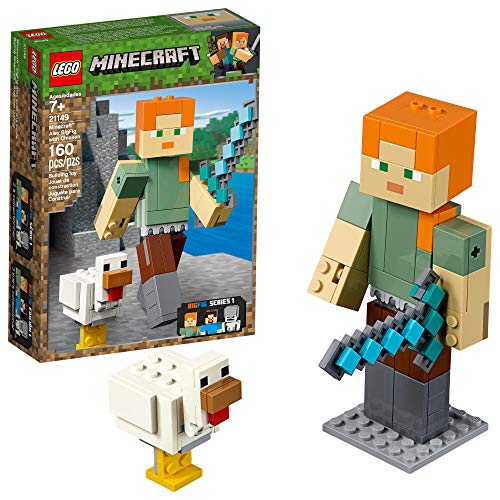LEGO Minecraft Alex BigFig with Chicken 21149 Building Kit (160 Pieces) (Discontinued by Manufacturer)