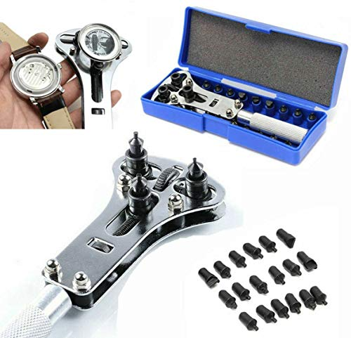 Eland Wrench Screw Remover Watch Back Case Battery Cover Opener Repair Tool Set Kit 17 mm - 33 mm