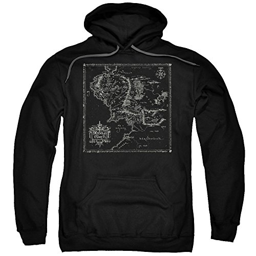 Trevco Hoodie: Lord Of The Rings- Middle Earth Map Pullover Hoodie Size M