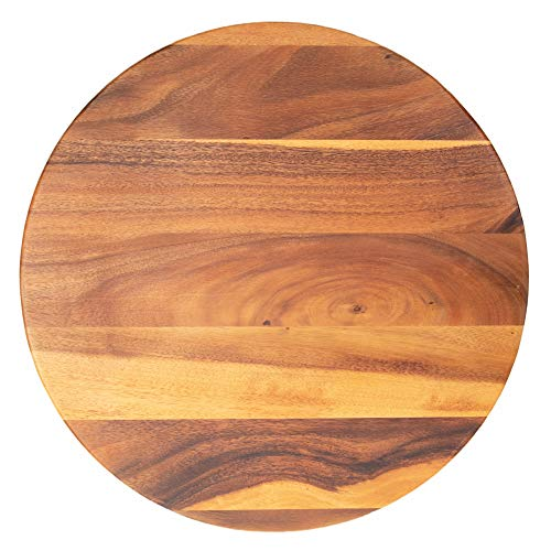 Villa Acacia Large Lazy Susan 22' Solid Wood Turntable for Table, Cabinet and Kitchen