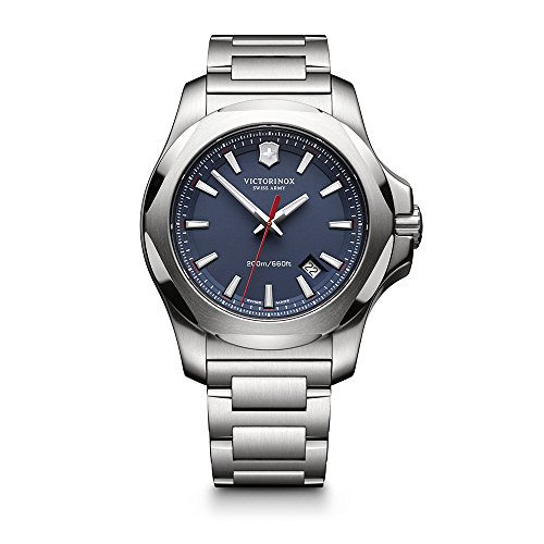 Victorinox Swiss Army I.N.O.X. Stainless Steel Watch, 43mm, Blue