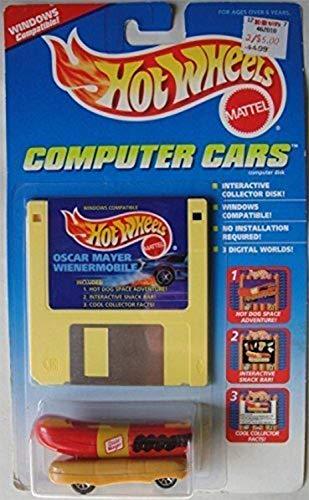 Hot Wheels Computer Cars Oscar Mayer Wienermobile Windows Compatible Disk