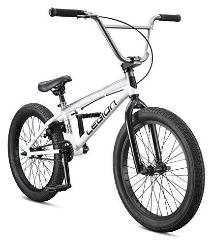 Mongoose Legion L20 Freestyle BMX Bike, 20-Inch Wheels, White, One Size
