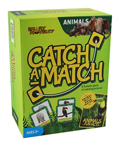 Memory Game - Animal Matching Game for Kids Ages 3 and Up - Animal Card Game Educational Learning Toy - Birthday for Boys and Girls (50 Pcs Matching Cards with 25 Pairs)