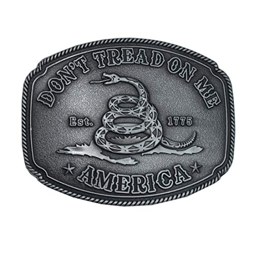American Gadsden Don't Tread On Me 1 1/2' 4CM Replacement Belt Buckles, Petwer, 1 1/2 inch