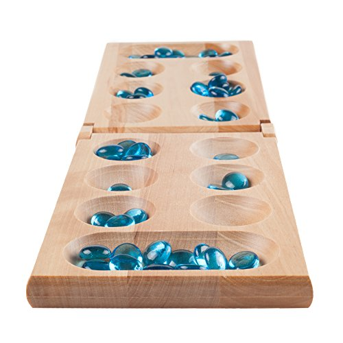 Hey! Play! Wooden Folding Mancala Game Board Game