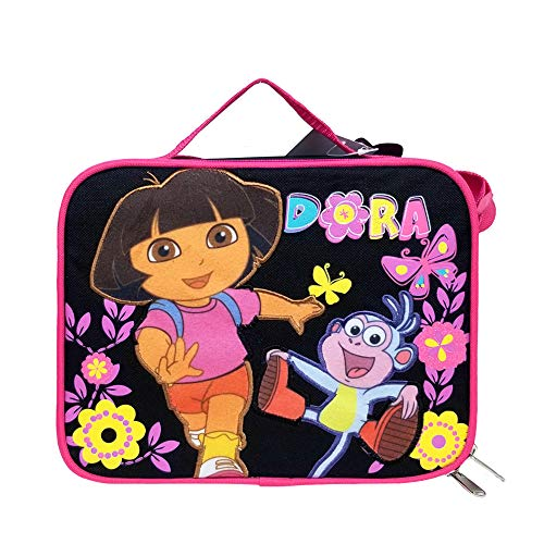 Dora the Explorer Lunch Bag Butterfly Black New Case Girls Licensed a02048