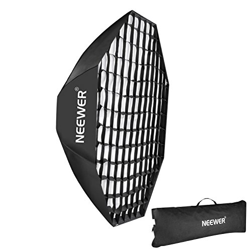 Neewer 55'/140cm Beehive Octagon Umbrella Speedlite Softbox for Nikon, Canon, Sony, Pentax, Olympus, Panasonic Lumix Flash Light, with Bowens Mount