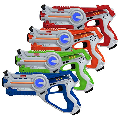 Kidzlane Laser Tag | Laser Tag Guns Set of 4 | Multi Function Lazer Tag Guns for Kids 4 Players | Indoor, Outdoor Game for Kids, Teen Boys and Girls, Adults | Ages 8 Year +