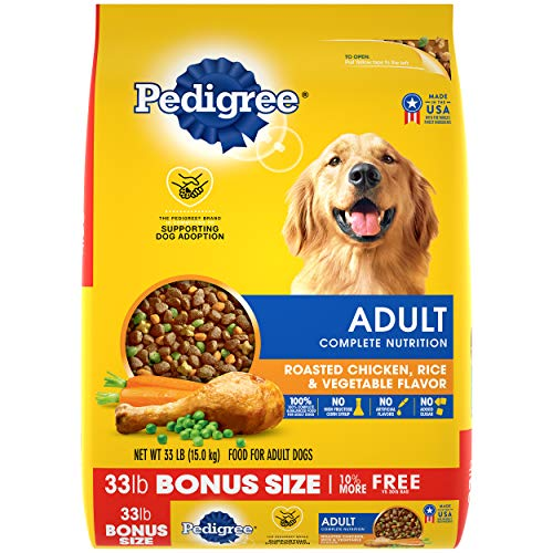 PEDIGREE Adult Complete Nutrition Roasted Chicken, Rice & Vegetable Flavor Dry Dog Food 33 Pounds