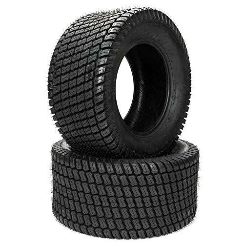 Set Of 2 Turf Tires 16x6.5-8 Lawn & Garden Mower Tractor Golf Cart Tubeless Tires 16-6.5-8 4 PR P322 Tubeless Load Range B
