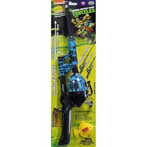 Teenage Mutant Ninja Turtles Telescopic No Tangle Fishing Rod/Reel Combo, Blue