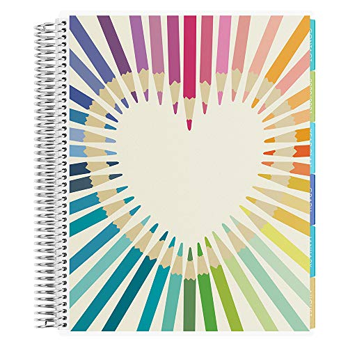 Erin Condren 12 - Month 2020-2021 Rainbow Heart Teacher Lesson Planner (August 2020-July 2021) - Oh So Retro Interior Design, 210 Pages of Planning Potential