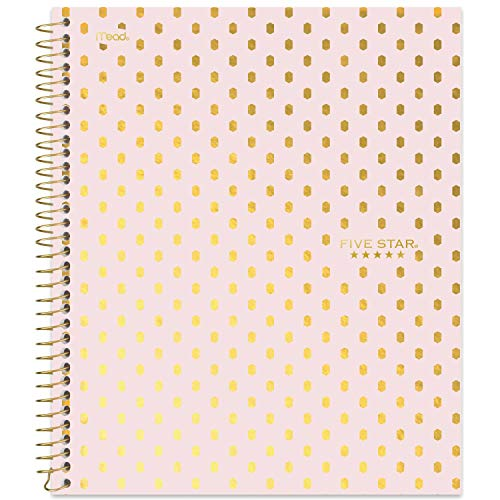 Five Star Spiral Notebook, 1 Subject, College Ruled Paper, 100 Sheets, 11' x 8-1/2', Design Selected For You (06348)