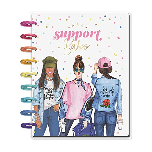 The Happy Planner - Babes Support Babes Rongrong Theme - July 2020 to December 2021 - Horizontal Layout - Weekly & Monthly Disc-Bound Pages - Scrapbook - Classic Size