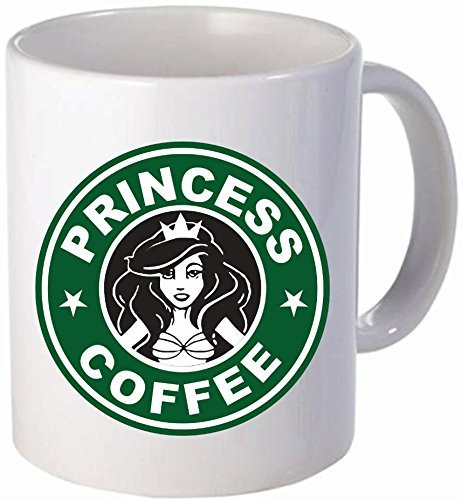 Funny Coffee Mug Princess Coffee 11 Ounces White for Girls Women and Sister