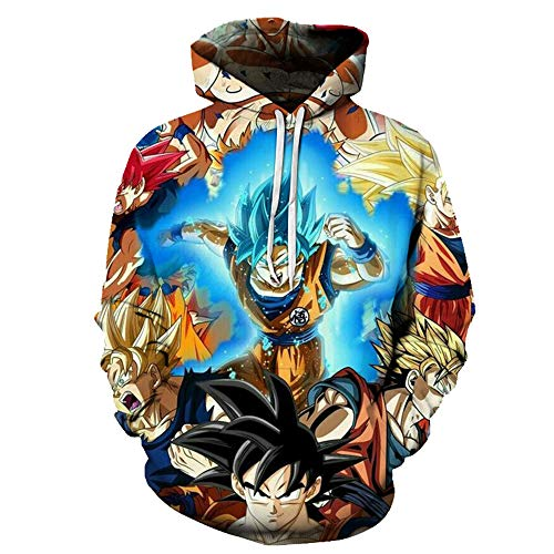 Lichee Boys/Mens Dragon Ball Z Super 3D Hoodies Goku Printed Pullovers Costume Cosplay Sweatshirts