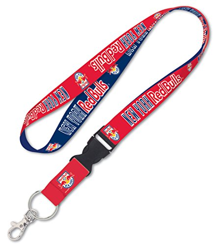 WinCraft Soccer New York Red Bulls Lanyard with Detachable Buckle, 3/4'