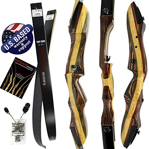 TigerShark Premium Takedown Recurve Bow by Southwest Archery USA |LIMITED TIME SALE| available with Stringer Tool | weights 29-60 lb | LEFT and RIGHT HANDED | ASSEMBLY INSTRUCTIONS INCLUDED RH 40 WS